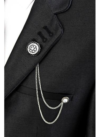 Wessi Parlak Takım Elbise Kombini Siyah